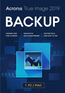 Acronis True Image 2019 Premium - 1 PC + 1 To Acronis Cloud Storage - 1 an Abonnement