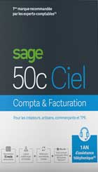 Sage 50c COMPTA + FACTURATION - 1 an d'assistance