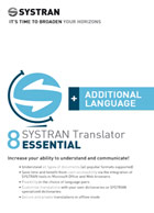 SYSTRAN 8 Translator Essential - Additional Language Pair - Français <> Italien