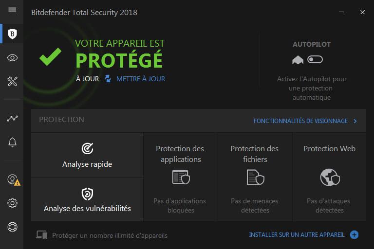 d couvrez les logiciels bitdefender total security 2018 disponibles en t l chargement sur. Black Bedroom Furniture Sets. Home Design Ideas