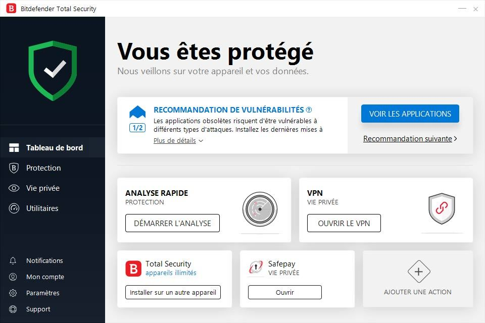 Bitdefender Total Security 2019 screenshot 1