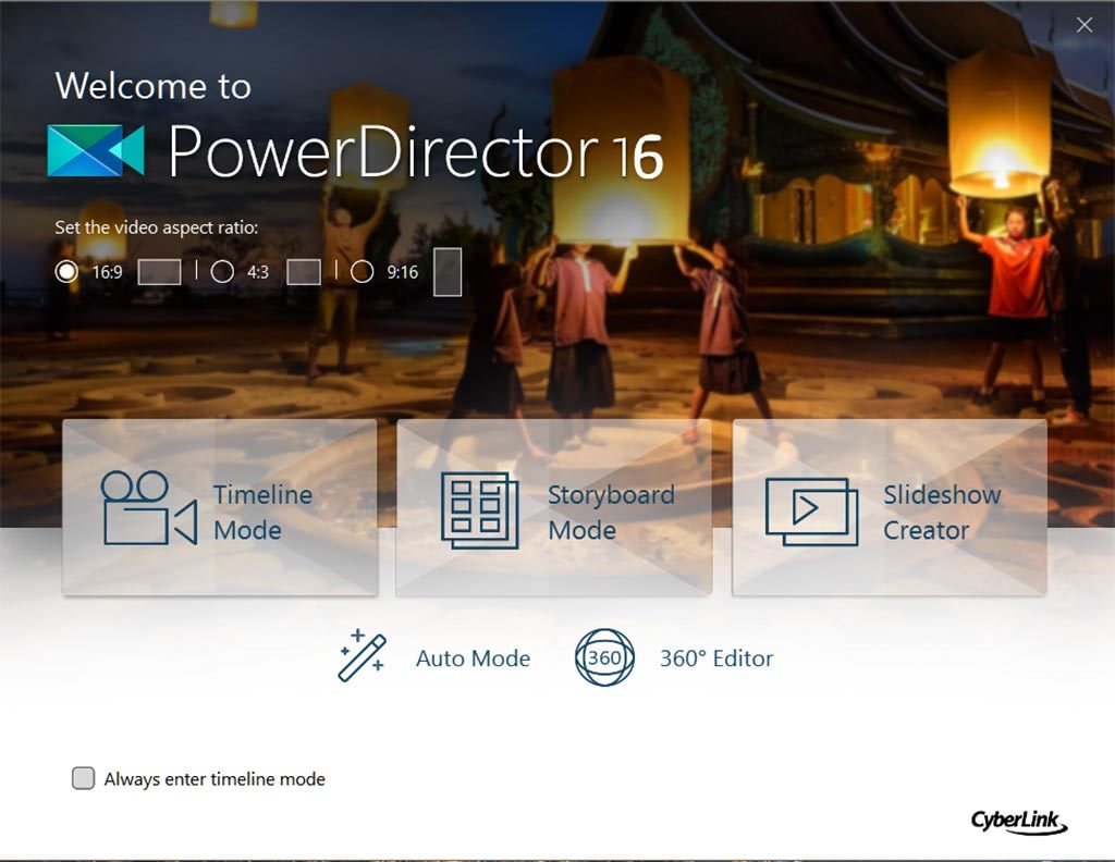 PowerDirector 16 Deluxe screenshot 1