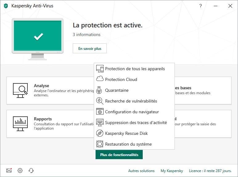 Kaspersky Anti-Virus screenshot 2