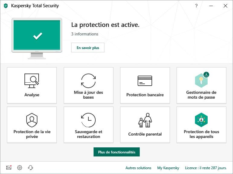 Kaspersky Total Security screenshot 2