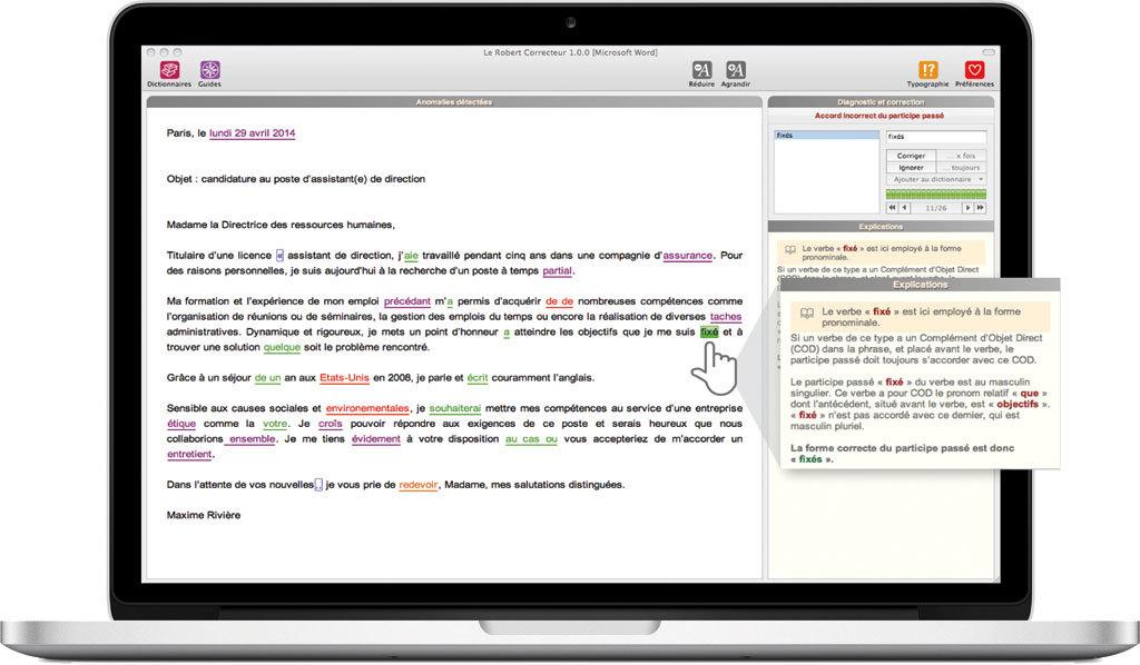D couvrez les logiciels le robert correcteur nouvelle - Office de la langue francaise correcteur ...