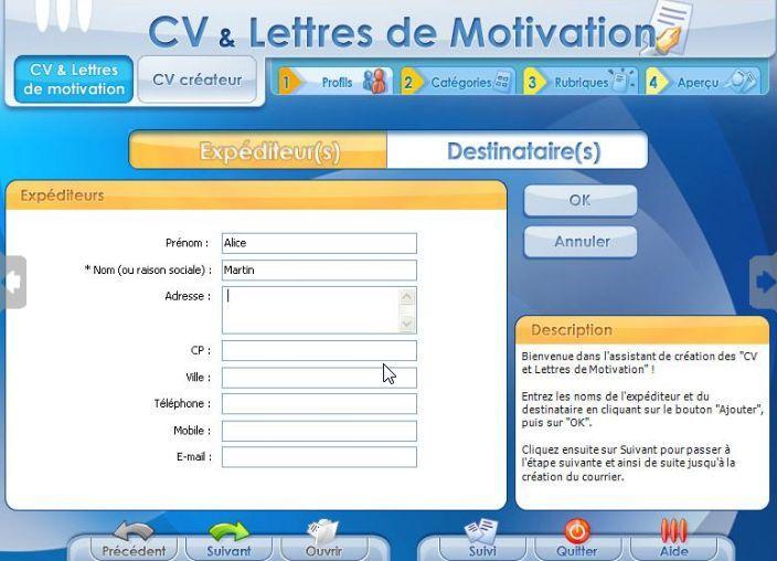 d u00e9couvrez les logiciels cv  u0026 lettres de motivation