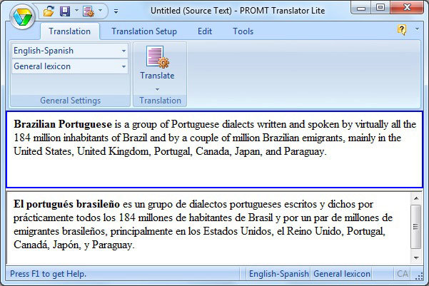 PROMT Home 11 (French Multilingual) screenshot 2