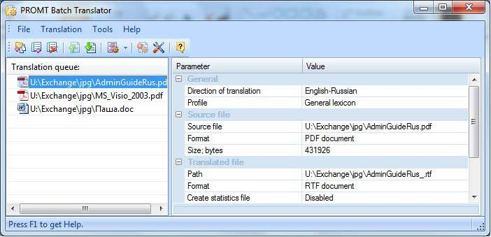PROMT Professional 11 (French Multilingual) screenshot 3