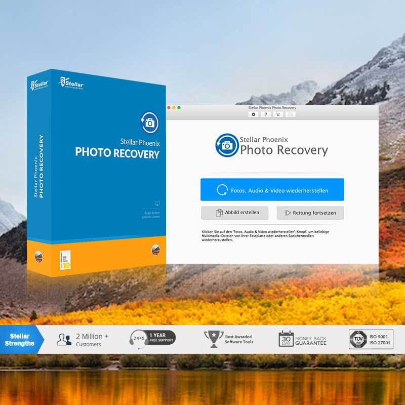 Stellar Phoenix Photo Recovery Mac V8 screenshot 1
